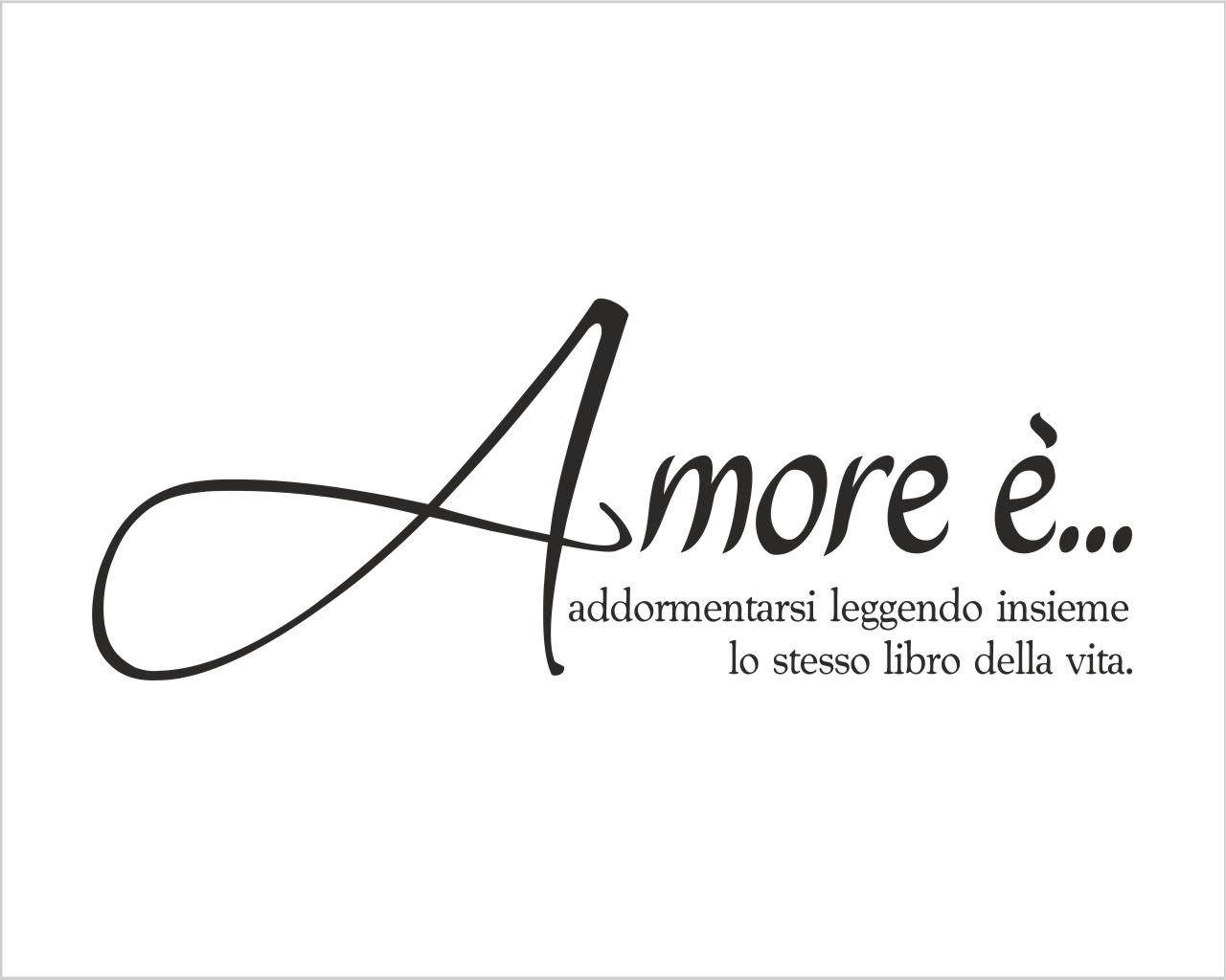 Frase Adesiva Amore E Addormentarsi Adesivo Murale Interni