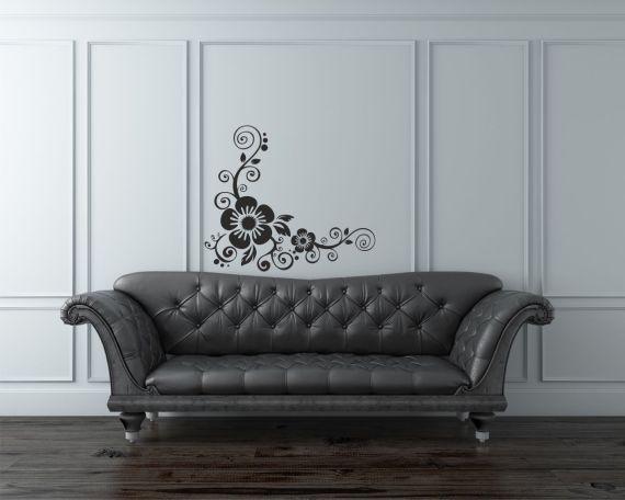 adesivo murale-decoro con fiori