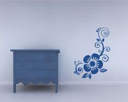 adesivo murale-decoro con fiore grande