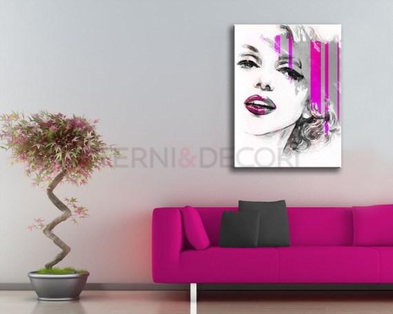 Ritratto di Marilyn-stampa su tela