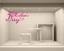 Adesivo per vetrine-happy mother's day n.2
