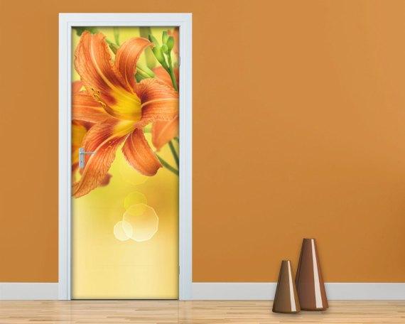 Adesivo per porte-lilium arancione