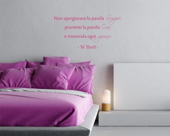 Adesivo murale-Massimo Bisotti-ora e ogni giorno
