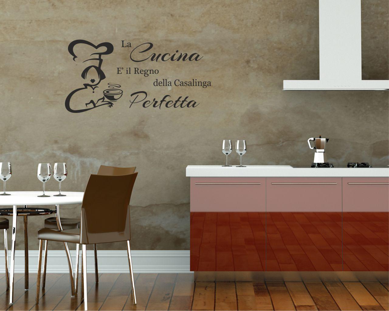 LA CUCINA E IL REGNO  Food  Adesivo murale  Interni
