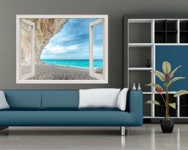 Finestra adesiva-scorcio sul mare