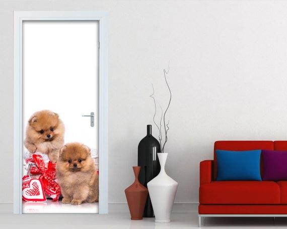 Adesivo per porte-cagnolini con cuori