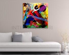 Composizione di colori-stampa su tela