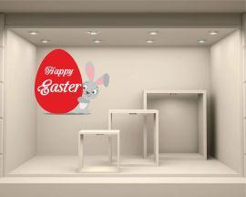 Adesivo per vetrina-sweet bunny