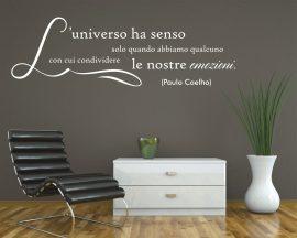 Adesivo murale-Paulo Coelho-l'universo ha senso...