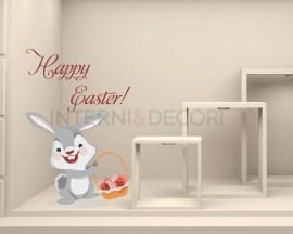 Adesivo per vetrine-sweet easter bunny