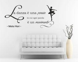 Adesivo murale-la danza è una poesia