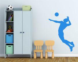 Adesivo murale-giocatore di pallavolo