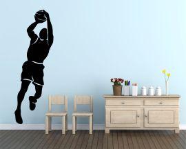 Adesivo murale-salto sotto canestro