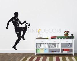 Adesivo murale-giocatore che pall