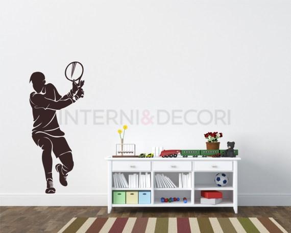 Adesivo murale-tennista in azione