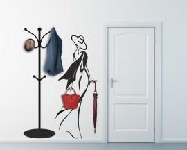 Appendiabiti design-donna con foulard al vento