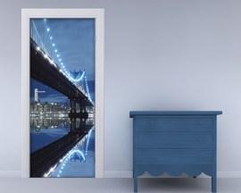 Adesivo per porte-sotto il ponte di notte