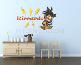 Adesivo murale personalizzato-Adesivo Dragonball+nome