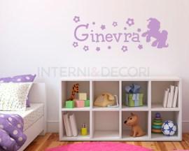 Adesivo Mini Pony+nome-adesivo murale personalizzato