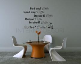 Bad day? Coffee-Adesivo da parete caffè