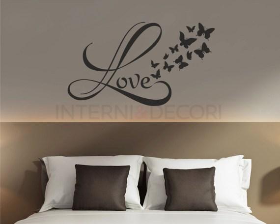 Adesivo murale-love and butterflies-adesivo da parete amore