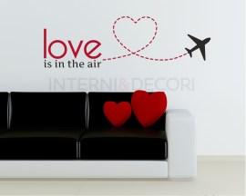Adesivo murale-love is in the air-adesivo da parete amore