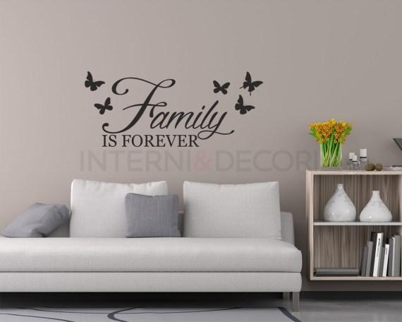 Adesivo da parete famiglia-family is forever-adesivo murale