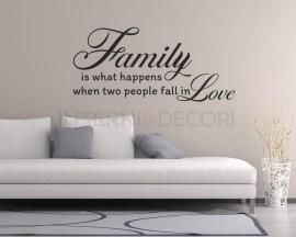 Adesivo murale-Adesivo da parete famiglia-family is what happens-adesivo murale