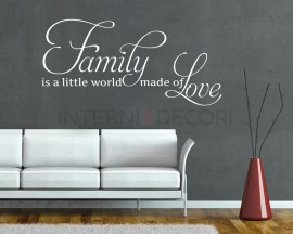 Adesivo murale-family is a little world-adesivo da parete famiglia