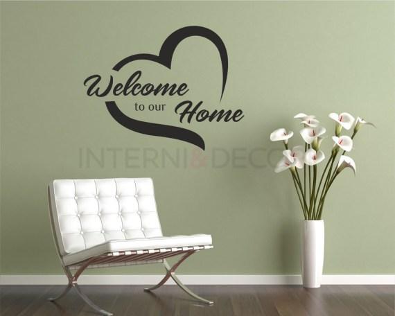 Adesivo murale-welcome to our home-adesivo da parete casa