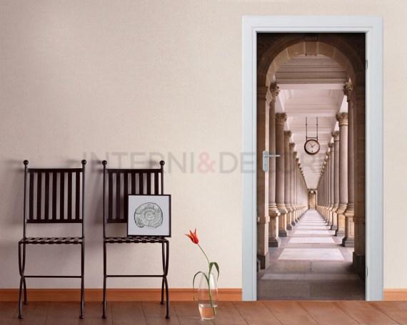 Colonnato di Mill-passeggiata con orologio-Adesivo per porte