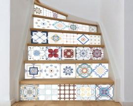 Decorazione per scale-classic tiles-adesivo per scale