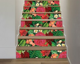 Adesivo per scale-palme e piante esotiche-decorazione per scale