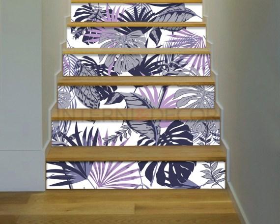 Decorazione per scale-foglie di palma-adesivo per scale