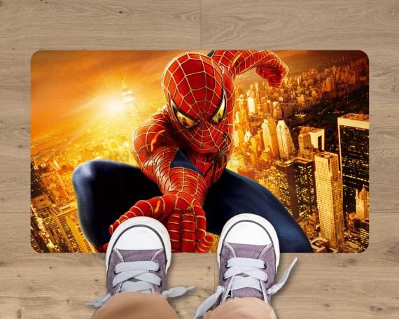 Adesivo per pavimenti-tappeto adesivo-Spiderman sui tetti