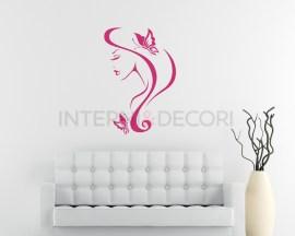 Farfalle tra i capelli-adesivo murale