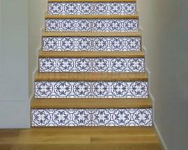 Decorazione per scale-blue stairs-Adesivo per scale