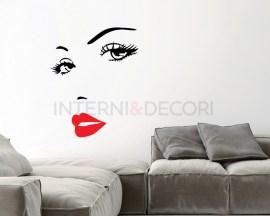Adesivo murale-viso sensuale-adesivo da parete donna