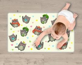 Adesivo per pavimenti-camminando tra i gattini-tappeto adesivo bambini