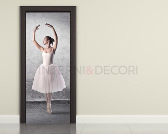 Passo di danza-decorazione adesiva porte