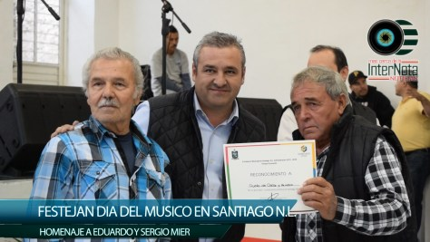 FESTEJAN DIA DEL MUSICO HOMENAJE A EDUARDO Y SERGIO MIER