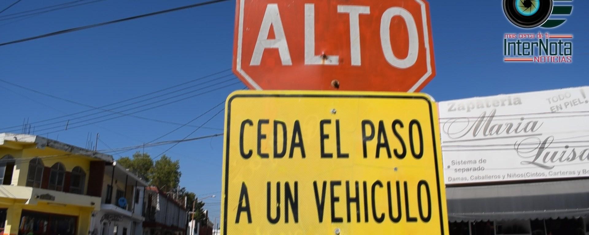 CON LA FINALIDAD DE EVITAR ACCIDENTES EN UN ÁREA MUY TRANSITADA