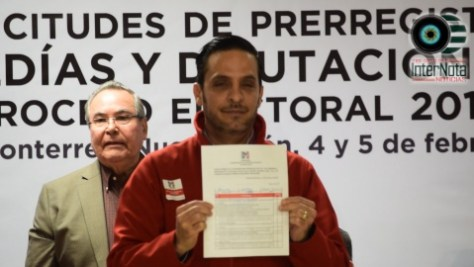 SE REGISTRA MARCO GONZALEZ COMO PRE CANDIDATO A LA DIPUTACION POR EL DISTRITO 26.
