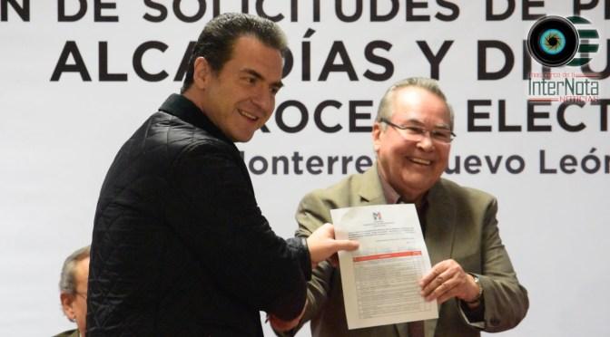 SE REGISTRA ADRIÁN DE LA GARZA COMO PRECANDIDATO DEL PRI A LA ALCALDÍA DE MONTERREY, N.L