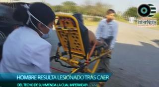 UN HOMBRE RESULTA LESIONADO LUEGO DE CAER DE UNA ALTURA DE 4 METROS
