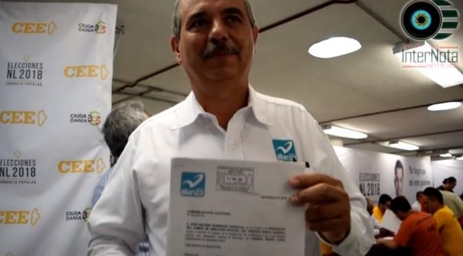 SE REGISTRA GERARDO GUZMÁN GONZÁLEZ A LA ALCALDÍA DE LINARES POR EL PARTIDO NUEVA ALIANZA
