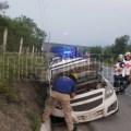 #INTERNOTA #ENVIVO SE REGISTRA ACCIDENTE VIAL TIPO SALIDA DE CARPETA A LA ALTURA DE MARGARITAS CRUCES EN EL MUNICIPIO DE SANTIAGO NO HAY LESIONADOS.