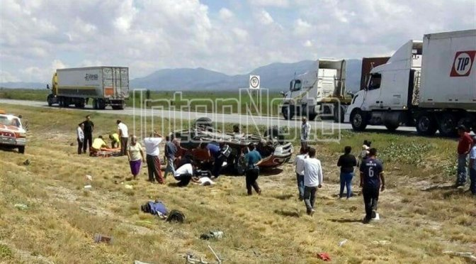FALLECEN TRES PERSONAS EN TRÁGICO ACCIDENTE.