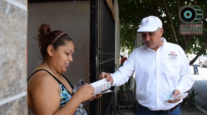 CONTINUA ADRIÁN VISITANDO A LOS HABITANTES DE LOS DISTINTOS MUNICIPIOS