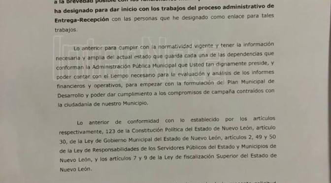DESPUES DE UN MES RESPONDEN SOLICITUD PARA EQUIPO TRANSICION